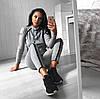 Спортивный костюм женский облегающий. (М. 176) Цвет: чёрный и серый