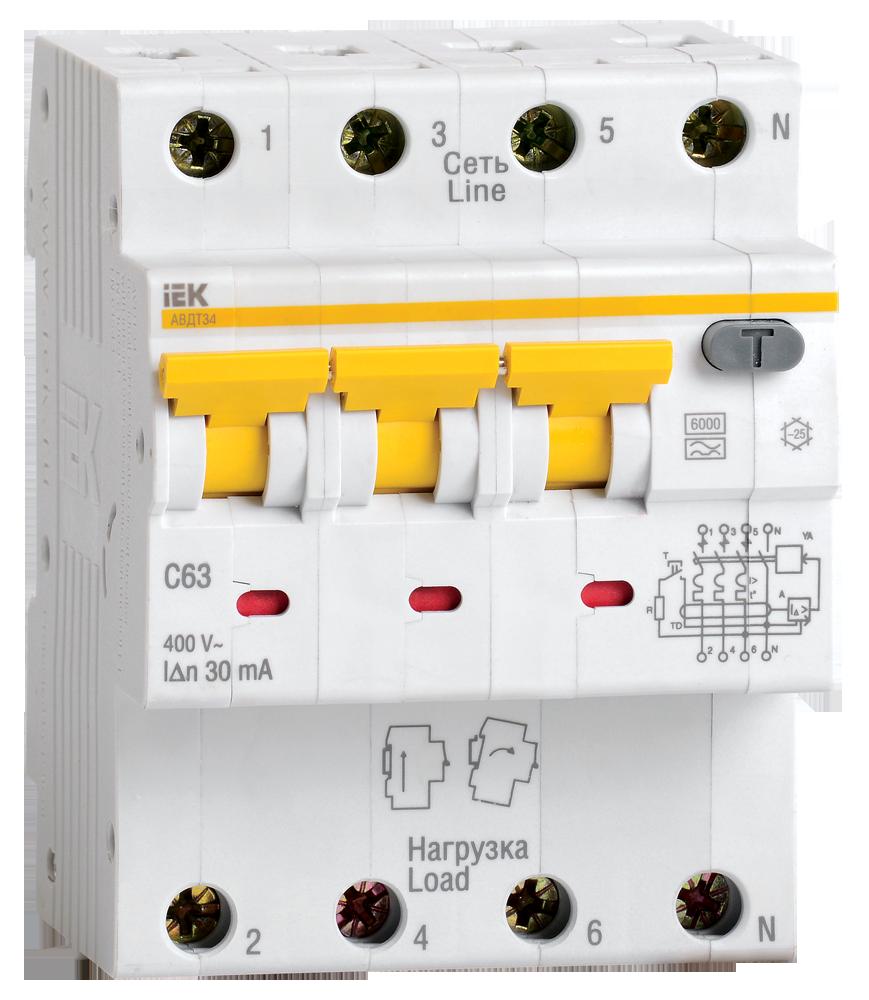АВДТ 34 C16 100мА - Автоматический Выключатель Дифф. тока