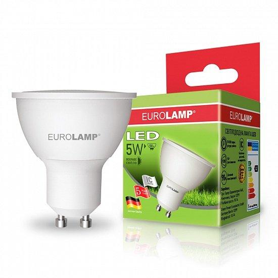 Лампа светодиодная EUROLAMP LED 220v - 5w 4000K GU10 MR16 05104 D