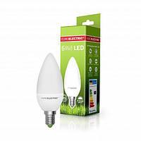 Лампа светодиодная EUROELEСTRIC LED 6w 4000K E14 B35 CL 06144 (EE)