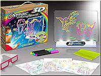 Магическая 3d доска для рисования, 3d magic drawing board, дошка для малювання, детская доска для рисования