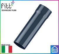 FITT пластиковые водосточные системы. Труба водосточная 3м Fitt 80 графитовый ,