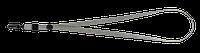 Шнурок с карабином, серый