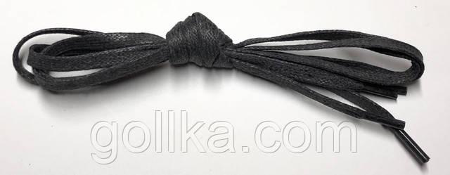 Шнурки с пропиткой плоские темно-серые