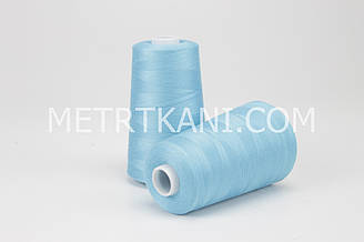 Нитки швейные  5000 ярдов, лазурного цвета   № N50-40-144522