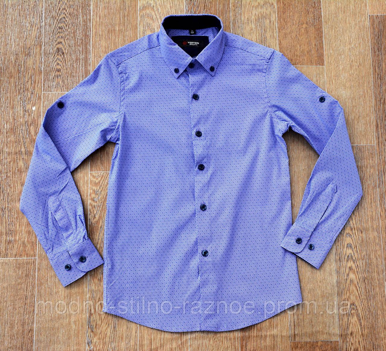 Рубашка на мальчика. Длинный рукав. Ворот 29-36 Рост 116-160