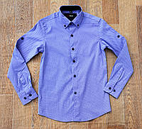 Рубашка на мальчика. Длинный рукав. Ворот 29-36 Рост 116-160 , фото 1
