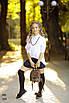 Блуза шкільна для дівчинки регланом коттон 134,140,146,152, фото 4
