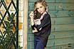 Блуза шкільна для дівчинки регланом коттон 134,140,146,152, фото 5