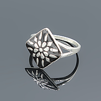 """Серебряное кольцо """"Женское счастье"""" с эмалью"""