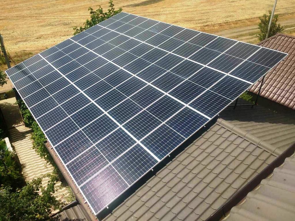"""Прилиманское солнечная электростанция под """"зеленый"""" тариф мощностью 16 кВт Risen + Huawei Одесская область"""