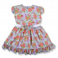 Красивое, нарядное недорогое платье на девочку с поясом и бантиком KS1040