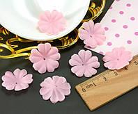 (10 ГРАММ ≈260 шт) Заготовка для цветка, пресс Ø24мм Цвет - Розовый