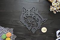 """Настенное панно из дерева """"Волки"""". Декор из дерева влюбленные волки, декор в спальню, геометрия животных"""