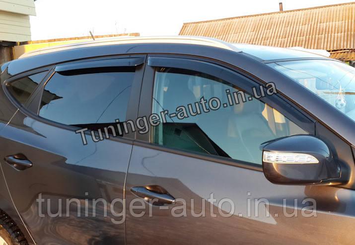 Ветровики, дефлекторы окон Hyundai IX-35 2009-2014 (Autoclover/Корея)