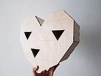 Коробка из фанеры сердце 33*12*31 см в форме сердца