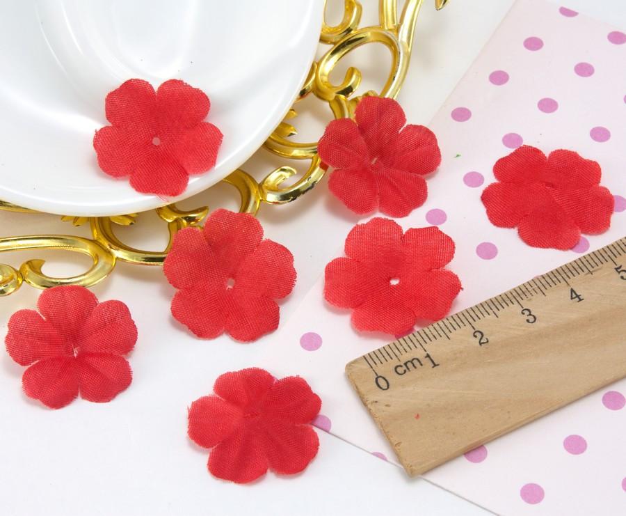 (10 ГРАМ ≈260 шт) Заготівля для квітки, прес Ø24мм Колір - Червоний