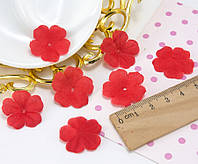 (10 ГРАМ ≈260 шт) Заготівля для квітки, прес Ø24мм Колір - Червоний, фото 1