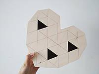 Коробка из фанеры сердце 25*7*22 см в форме сердца
