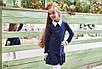 Платье школьноедлинный рукав с воротничком низ рюш франц трикотаж 134,140,146,152, фото 2