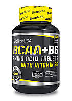 BCAA аминокислоты BioTech BCAA + B6 (100 таб)