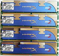 Комплект оперативной памяти Kingston HyperX DDR2 8Gb (4*2Gb) 1066MHz 8500U CL5 (KHX8500D2K2/4G) Б/У, фото 1