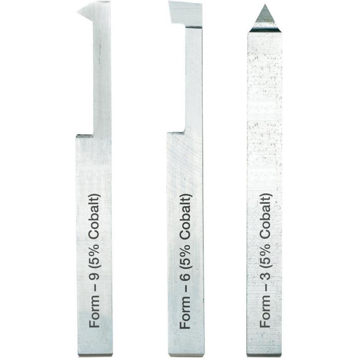 Набор резцов для нарезания резьбы Proxxon 10x10x80 мм, 3 шт. (24552)