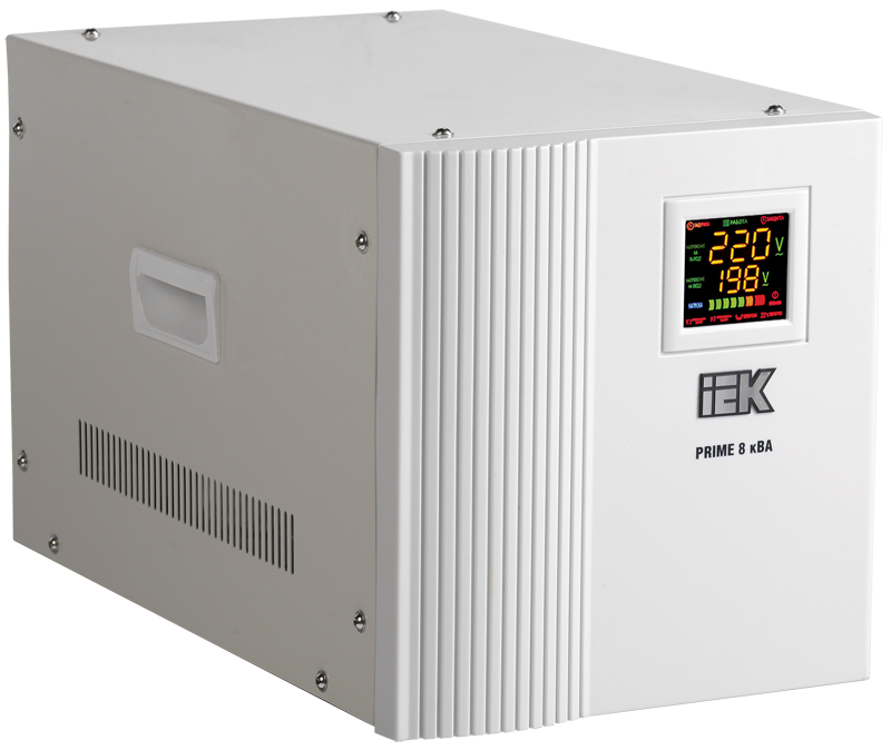 Стабилизатор напряжения переносной серии Prime 8 кВА IEK