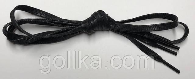 Шнурки с пропиткой плоские черные