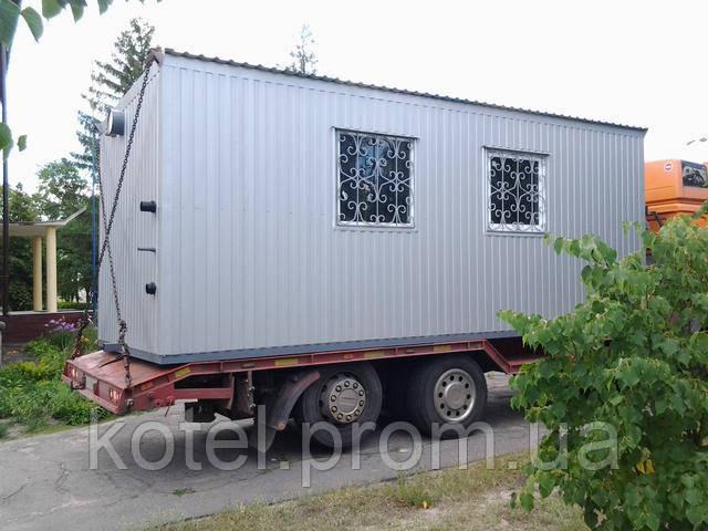 Транспортабельный контейнер котельной КМ-2 с газовыми напольными котлами Колви