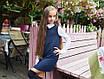 Платье школьноедлинный рукав с воротничком франц трикотаж+шифон 128,134,140,146, фото 2