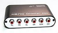 Цифро аналоговый ЦАП аудио преобразователь конвертер декодер звука с цифрового digital SPDIF оптического в 5.1