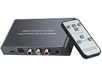 Цифро аналоговый преобразователь конвертер аудио декодер цифрового звука с пультом spdif optical toslink audio digital ЦАП в 2.0 стерео AUX переходник