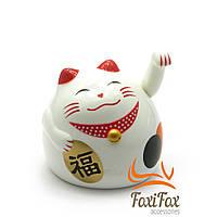 Кішка удачі Манэки Неко махає лапою 9 см