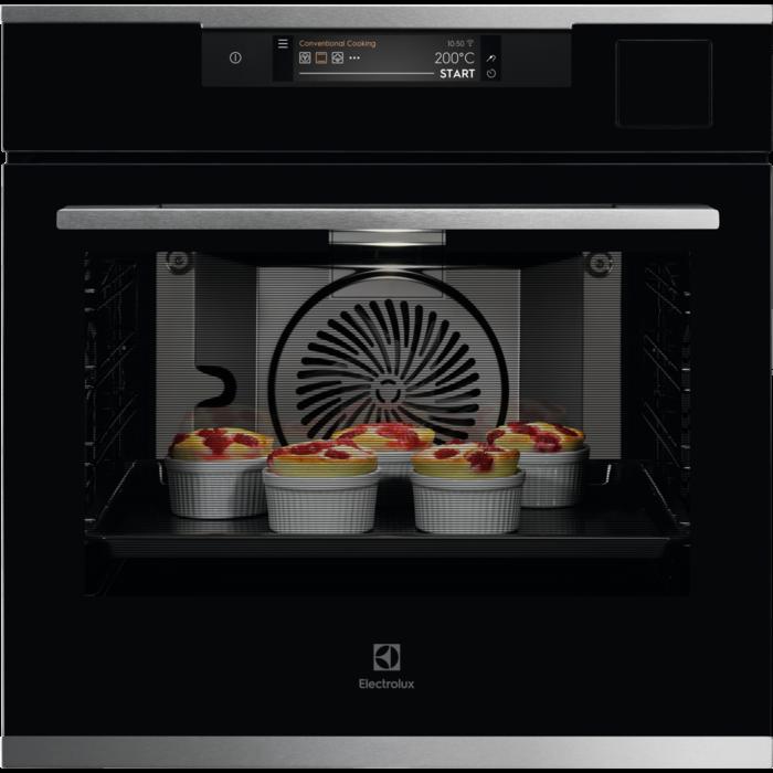 Встраиваемая духовка с функцией паровой печи и Wi-Fi Electrolux KOAAS31CX