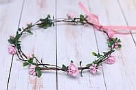 Веночек для волос для девочки OKl Розовый РР 180