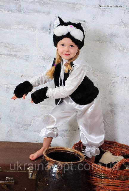 Детский новогодний костюм черного котика