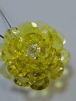"""Подхват магнитный для штор на тросике """"Хрустальный цветок"""" (желтый), фото 1"""