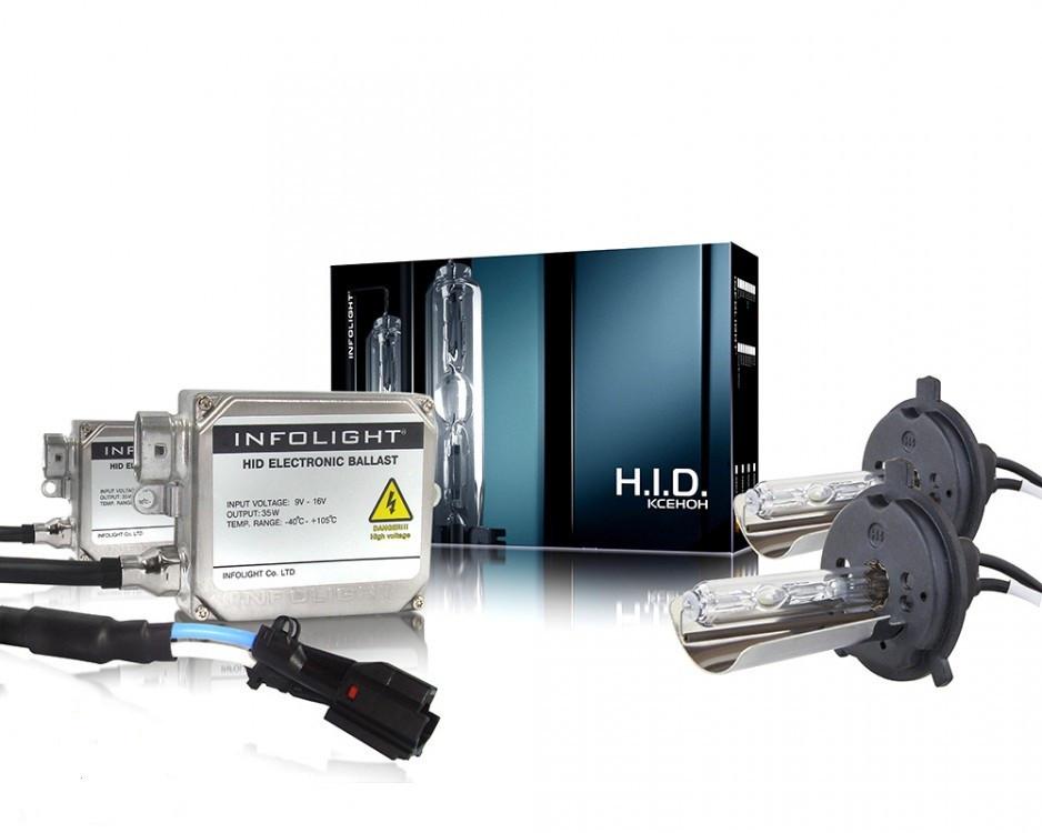 Комплект ксенону Infolight H4 H/L 35W 6000K (біксенон)