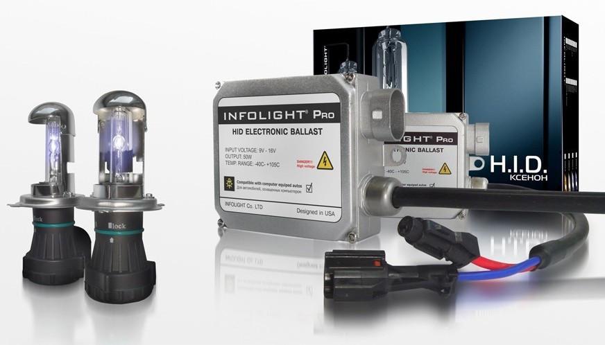 Комплект ксенона Infolight H4 H/L 6000K 50W (биксенон)
