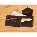 Мужской кошелек 4.2 (4 кармана, кнопка) Орех-апельсин, фото 2