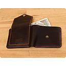 Мужской кошелек 4.2 (4 кармана, кнопка) Орех-апельсин, фото 3