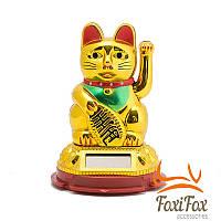 Кішка Манеки Неко на сонячній батареї 10 см