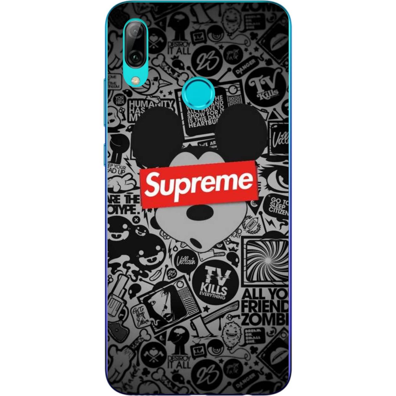 Силиконовый чехол с рисунком для Xiaomi Mi Play Микки Supreme
