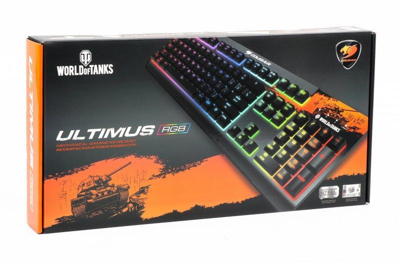 Клавиатура игровая механическая Cougar Ultimus RGB World of Tanks