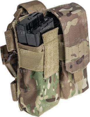 Подсумок Skif Tac для 4х магазинов АК с креплением на бедро ц:multicam