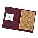 Обложка для паспорта 1.0 Виноград (кожа) + блокнотик, фото 2