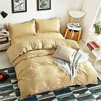 Gold, комплект постельного белья сатин однотонный (100% хлопок)