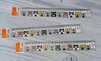 Линейка Пластиковая 30 см №370506 Коты 1 вересня Англия