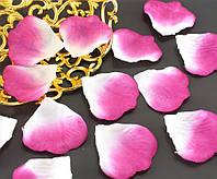 (≈140шт) Лепестки роз, искусственные Цена за упаковку Цвет - Бело-розовые